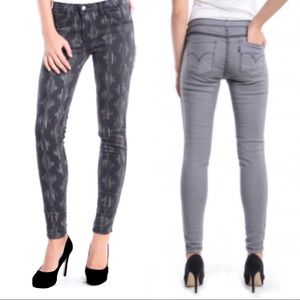 Levi's Reversible gray patterned skinny jeans 25